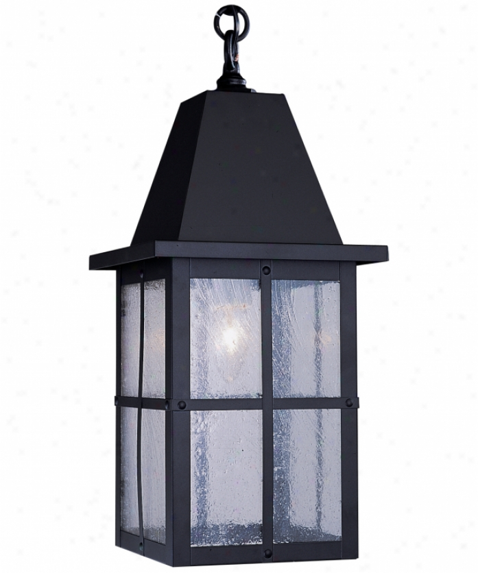 Arroyo Craftsman Hh-6-wo-bk Hartford 1 Light Outdoor Hanging Lantern In Satin Black With White Opalescent Glass