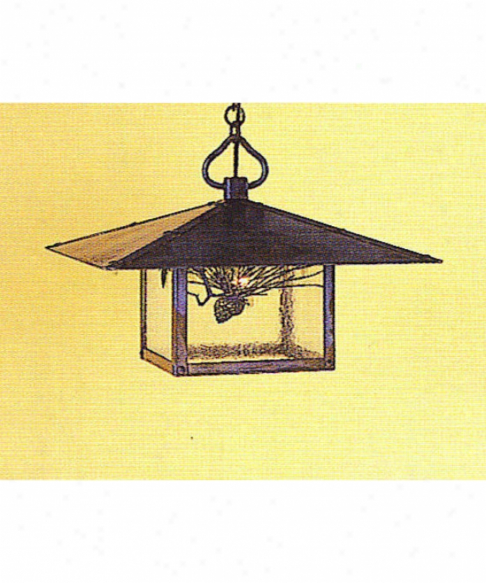 Arroyo Craftsman Mh-17t-gw-rc Monterey 1 Light Outdoor Hanging Lantern In Raw Copper With Gold Whlte Iridescent Glass