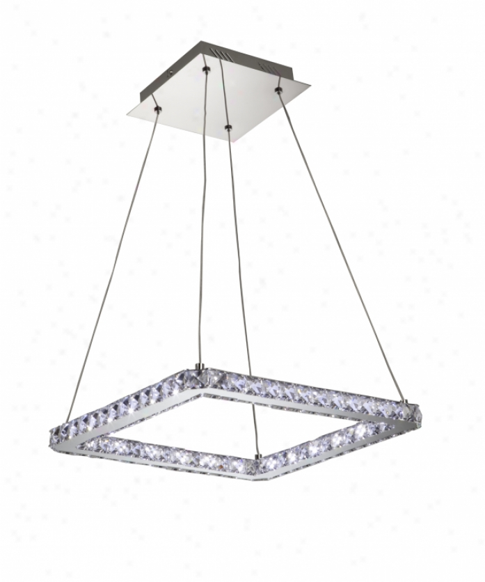 Artcraft Ac172 Eternity Energy Smart 24 Light Single Tier Chandelier In Polished Chrome Through  Polished Leaded Crystal