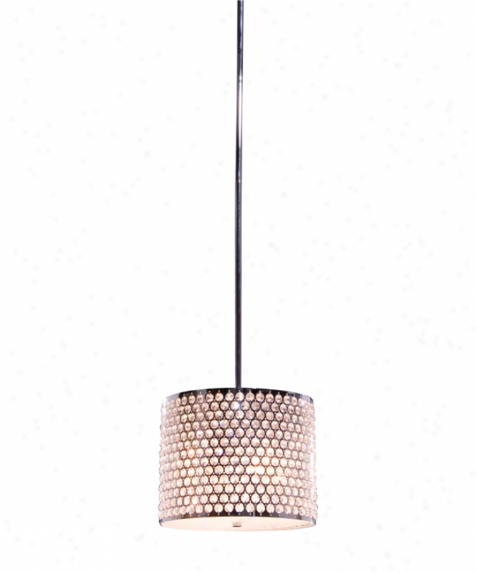 Artcraft Ac344ch Concentrix 4 Light Ceiling Pendant In Chrome With Frosted Glass Diffuser Glassegyptian Crystal Jewels Crystal