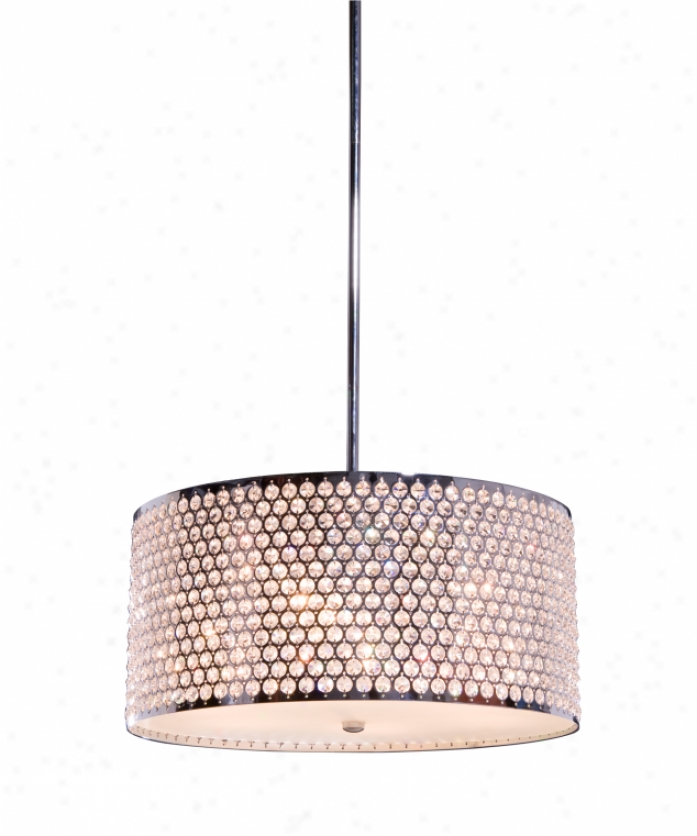 Artcraft Ac346ch Concentrix 6 Light Ceiling Pendant In Chrome With Frosted Glass Diffuser Glassegyptian Crystal Jesels Crystal