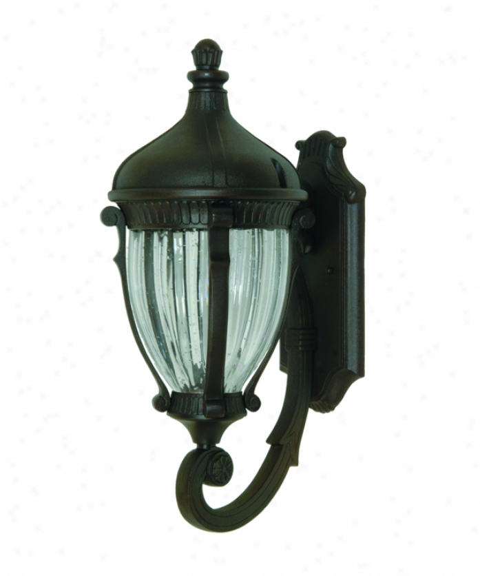 Artcraft Ac8580ob Annapolis 3 Light Outdoor Wall Light In Oiled Rubbed Bronze With Optic Clear Glass Glass