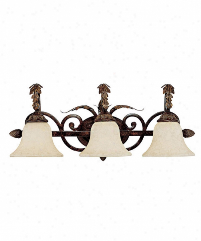 Capital Lighting 1823cb-285 Amberleigh 3 Light Bath Vanitg Light In Chesterfield Brown With Rust Scavo Glass