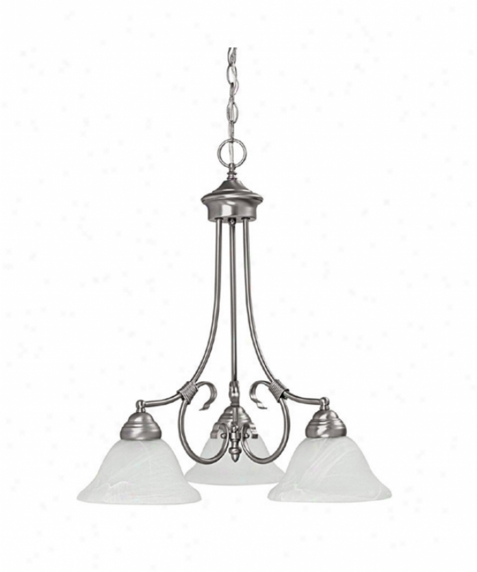 Capital Lighting 3224mn Hometown 3 Light Single Tier Chandelier In Matte Nickel With White Faux Alabaster Glass