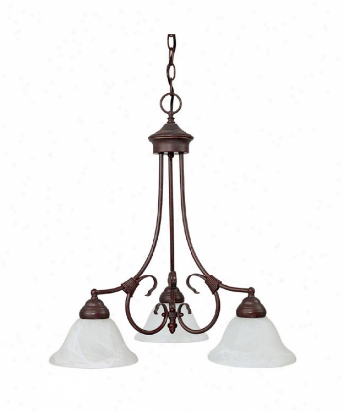 Capital Lighting 3224vb Hometown 3 Light Single Tier Chandelier In Vintage Bronze With White Faux Alabaster Gkass