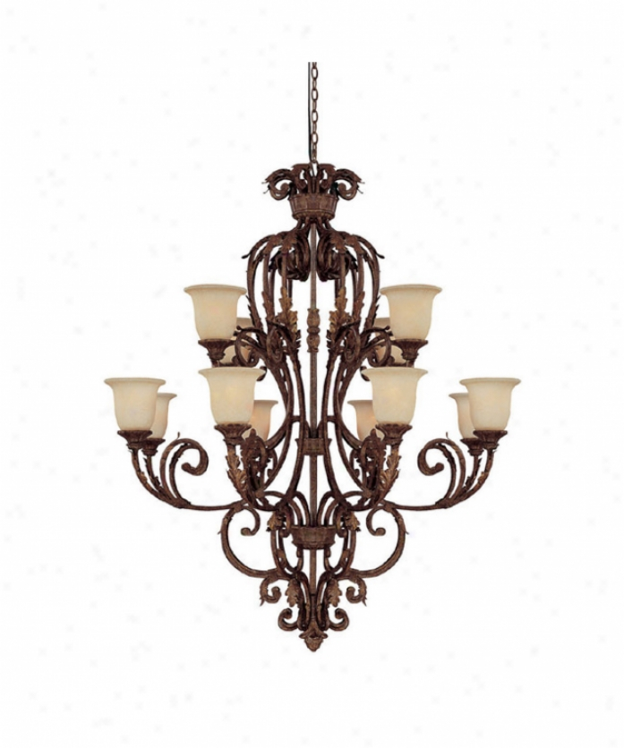 Capital Lighting 3642gu-294 Seville 12 Light Large Foyer Chandelier InG ilded Umber With Rust Scavo Glasscrystal Set Sold Separately Crystal