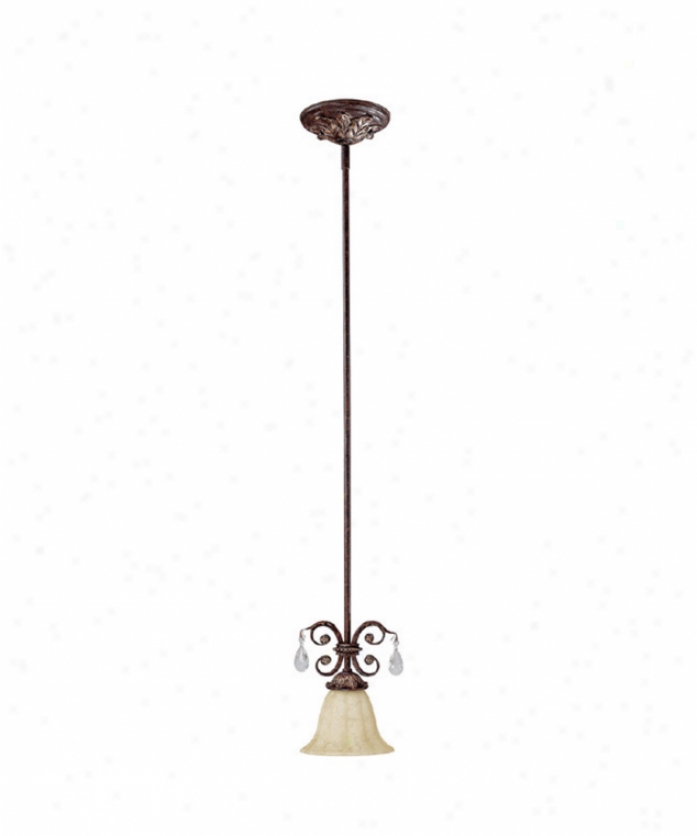 Capital Lighting 3681cb-281 Sheffield 1 Light Mini Pendant In Chesterfield Brown With Rust Scavo Glasscrystal Set Sold Separately Crystal