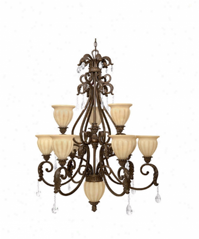 Capital Lighting 3819gb-262 Verona 10 Light Two Tier Chandelier In Gilded Bronze With Sienna Scavo Glassincluded Crystal Set Crystal