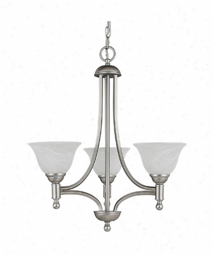 Capital Lighting 4353mn-220 Metro 3 Light Single Tier Chandelier In Matte Nickle With White Faux Alabaste5 Glass