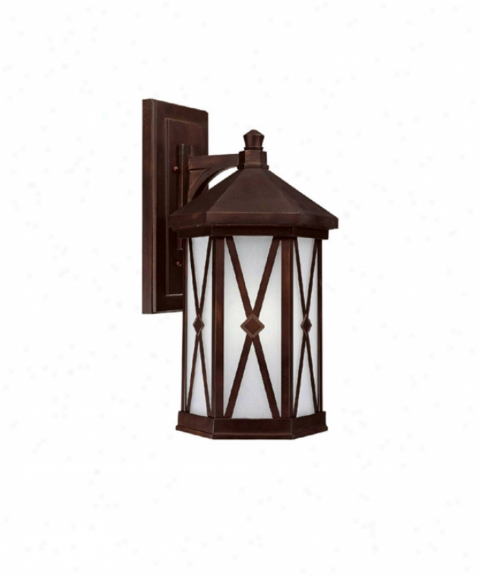 Capital Lighting 9874bb-gi Saxton Energy Smart 1 Light Outdoor Wall Daybreak In Burnished Bronze With Frosted Seeded Glass