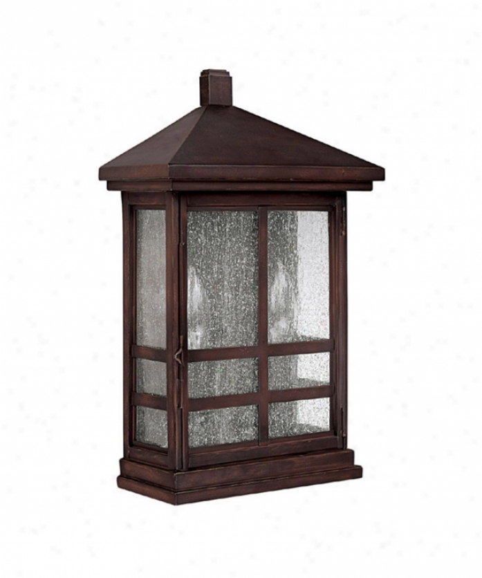Capital Lighting 9916mbz Preston 2 Light Outdoor Wall Light In Mediterranean Bronze With Seeded Glass