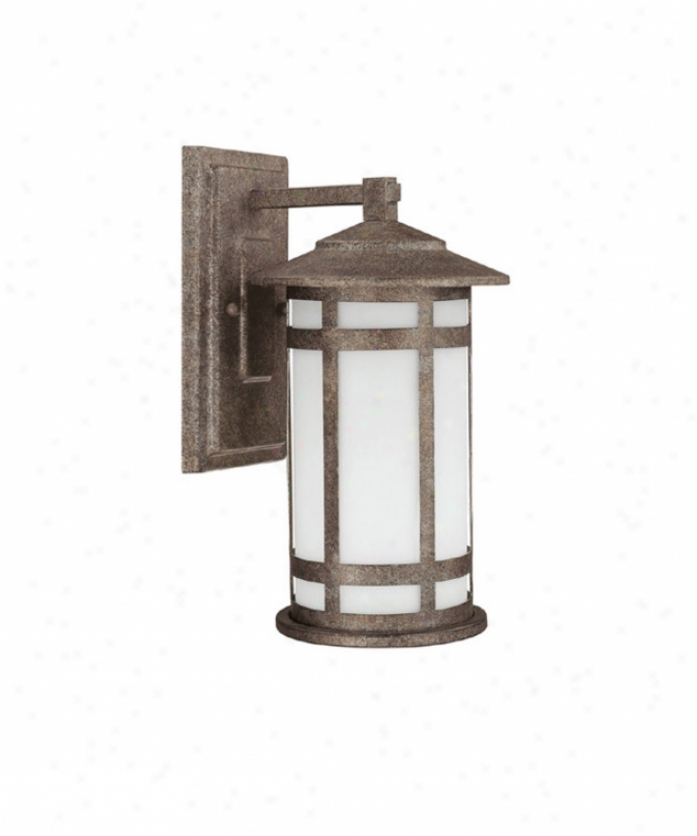 Capital Lighting 9951cs-gu Mission Hills Energy Smart 1 Light Outdpor Wall Light In Creek Stone With Frosted Matured Glass