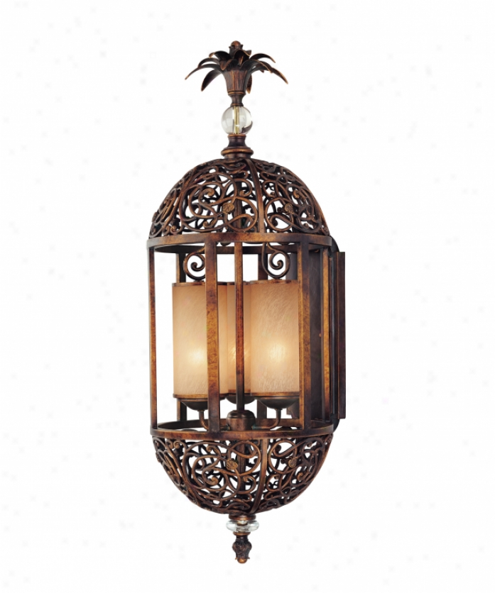 Eboli Small Post Light Aged Copper With Opal Glass: Holtkotter 5582HBOBG5040 Ludwig Series 2 Light Wall Sconce