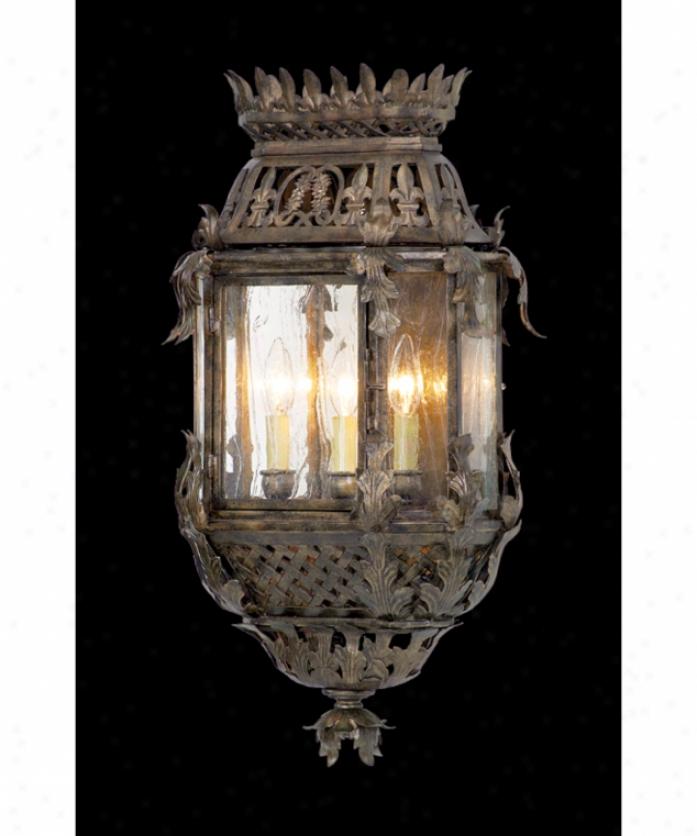 Corbett Lighting 59-22 Montrachet 3 Light Outdoor Wall Light In Montrachet Bronze With Antique Clear Glass