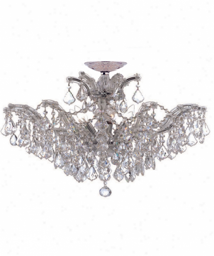 Crystorama 4439-ch-cl-s Maria Theresa 6 Light Single Tier Chandelier In Polished Chrome In the opinion of Swarovski Elements Crystal