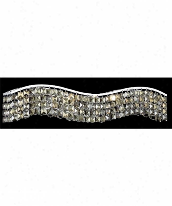 Elegant Lighting 2041w30c-gt-rc Contour 6 Light Ceiling Pendant In Chrome With Golden Teak (smoky) Royal Cut Crystal