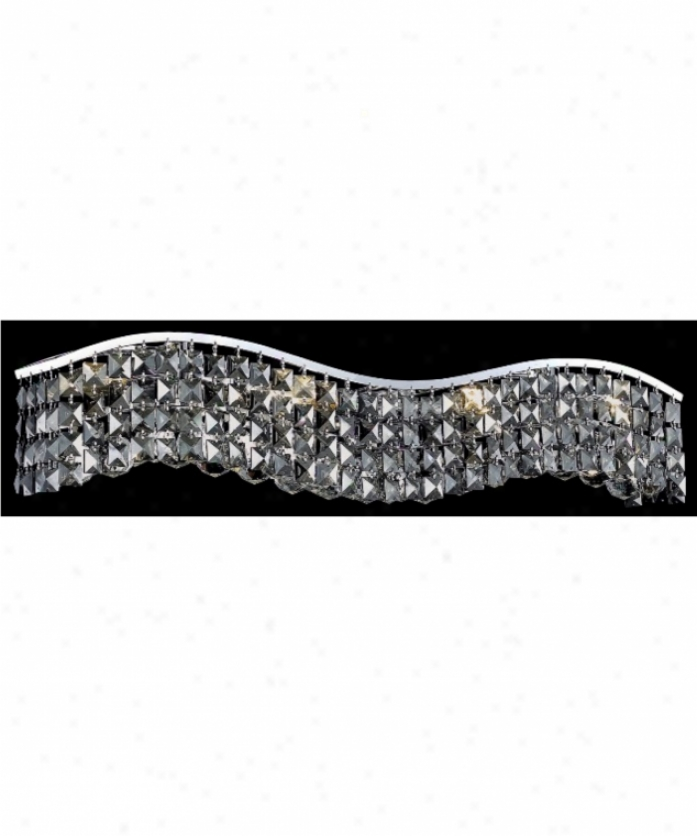 Elegant Lighting 2041w30c-ss-rc Contour 6 Light Ceiling Pendant In Chrome With Silver Shade (grey) Royal Cut Crystal
