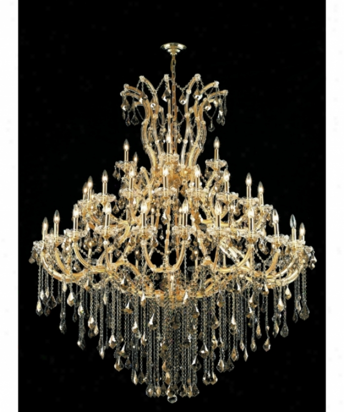 Polished Lighting 2800g60g-gt-rc Maria Theresa4 9 Light Large Foyer Chandelier In Gold With Golden Teak (smoky) Royal Cut Crystal