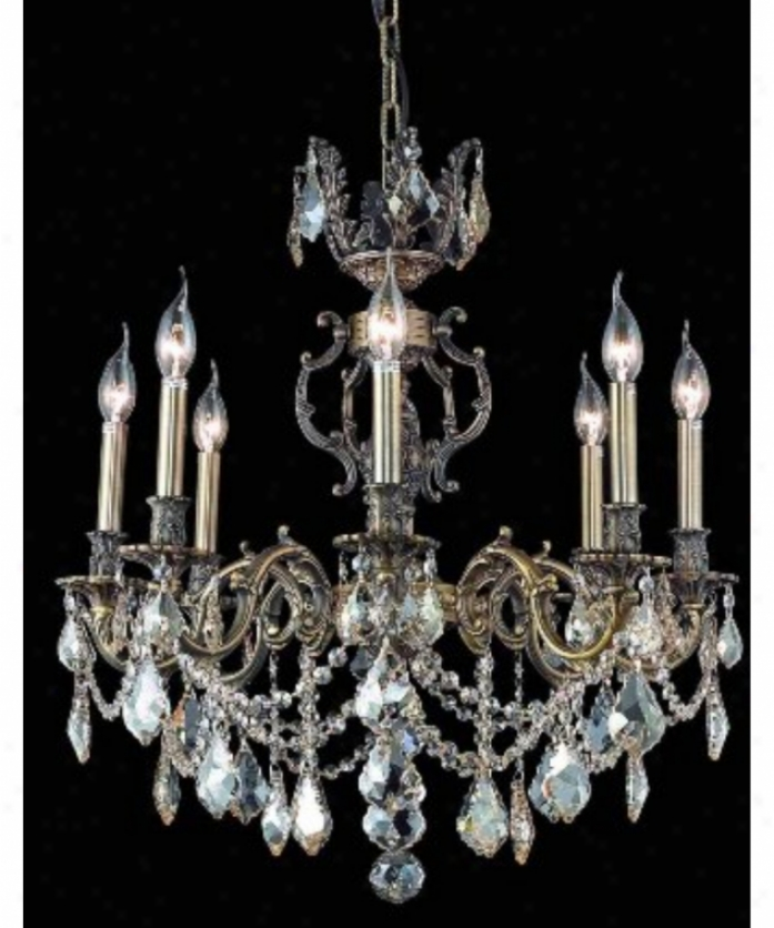 Antique Candle Chandeliers Champagne Crystal Chandelier: Schonbek 2258A Quantum 6 Light Single Tier Chandelier In