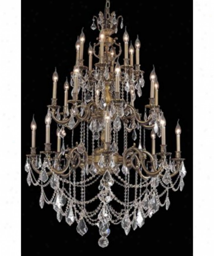 Eegant Lighting 9524g38ab-sa Marseille 24 Light Large Foyer Chandelier In Old Bronze With (clear) Spectra Swarovski Crystal