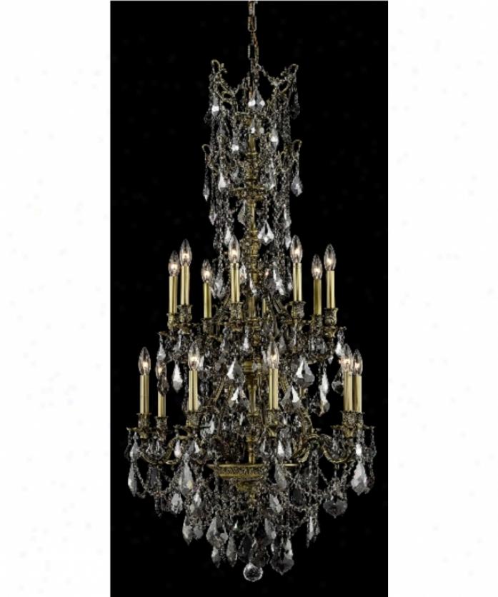 Elegant Foyer Chandeliers : Elegant lighting d ab gt ss rosalia light single