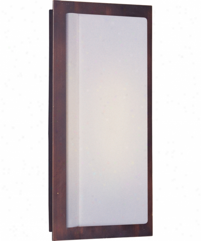 Et2 Lighting E53340-61oi Beam I Energy Smart 1 Light Exterior Wall Light In Oil Rubbed Bronzee With White Acrylic Glass