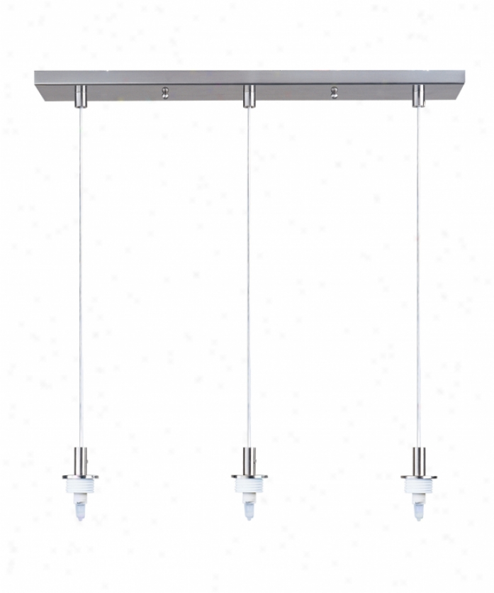 Et2 Lighting Es91103 Carte 3 Light Ceiling Hanging appendage In Satin Nickel With Requires 3 Pieces Of Glass (sold Seperately) Glasw