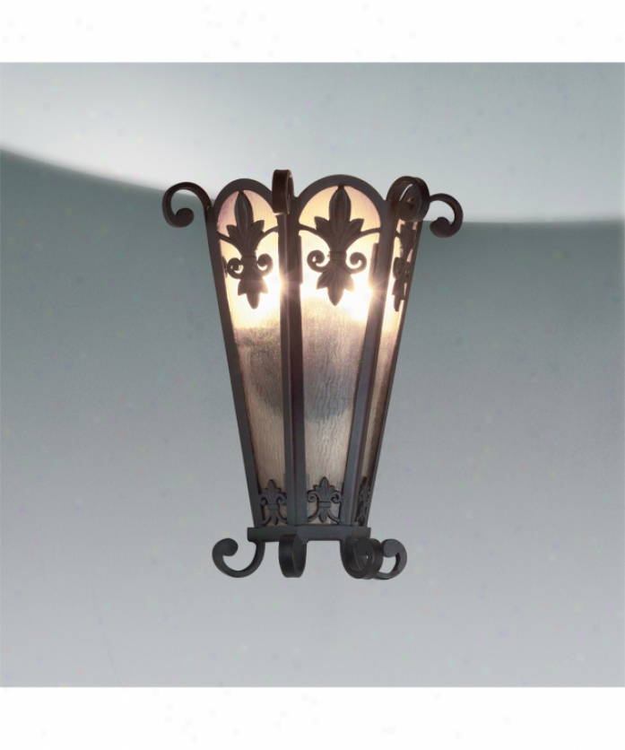 Eurofase Lighting 17480-017 Lonsdale 1 Instruction Wall Sconce In Antique Sable Bronze With Mottled Soft Amber Glass