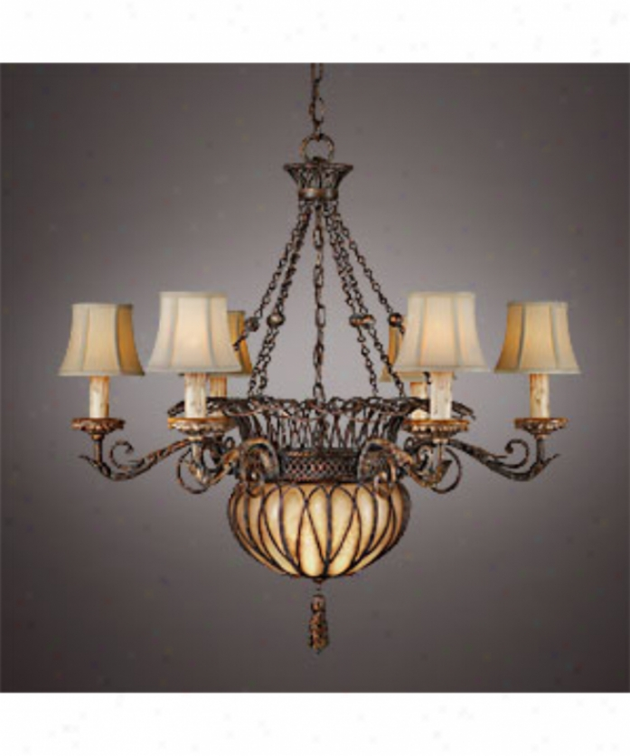 Fine Art Lamps 303140 Casa Di Campagna 6+3 Light Single Tier Chandelier In Pickled Pine With Hand Blown Glass Font Glass