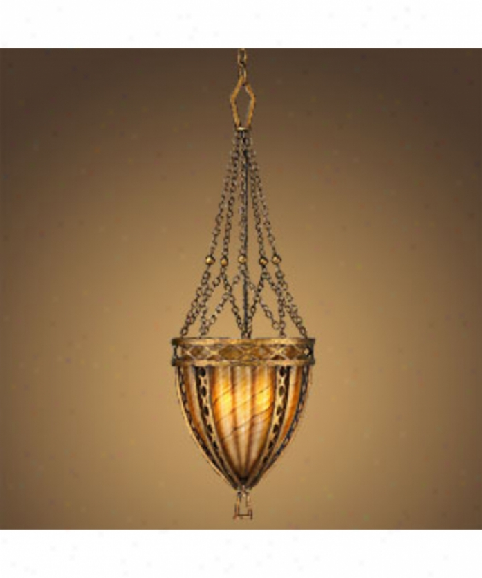Fine Art Lamps 335840 Staunton Collection 3 Light Ceiling Pendant In Dorato Intenso With Hand-blown Redness Infjsed Glass Glass