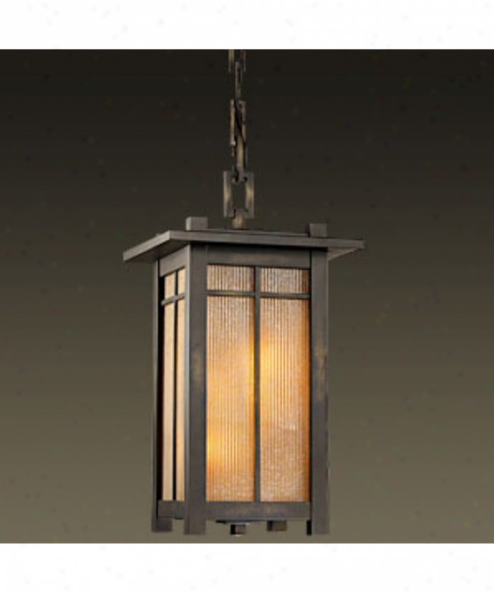 Fine Cunning Lamps 400880 Capisttrano 4 Light Outdoor Hanging Lantern In Warm Bronze Patina With Champagne Linen Glass Glass