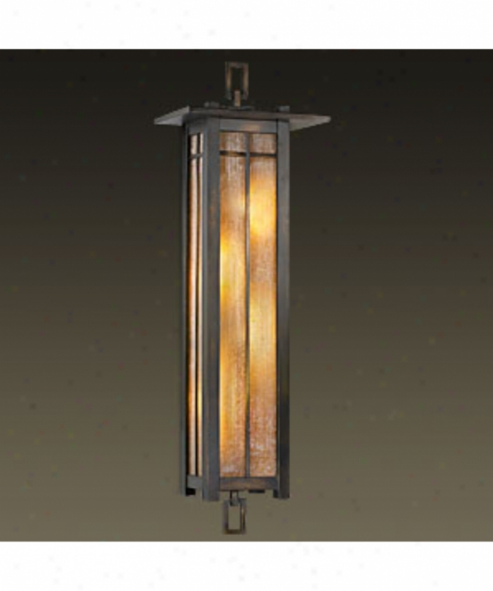Fine Art Lamps 401681 Capistrano 4 Light Outdoor Wall Light In Warm Bronze Patina With Champagne Linen Glass Glass