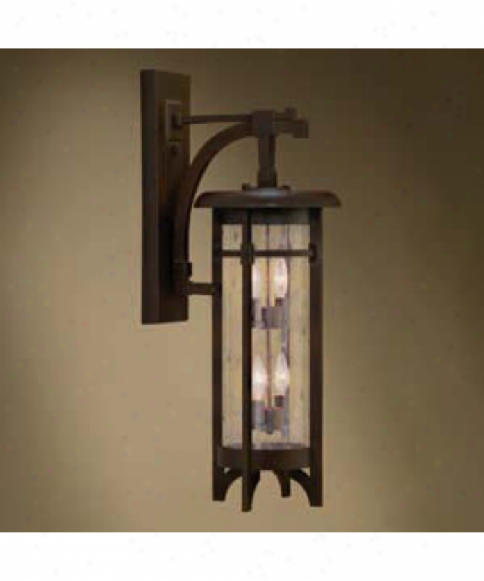 Fine Art Lamps 412481 Aspen 4 Light Outdoor Wall Light In Dark Roan Patina With Hand Blowh Perspicacious Seedy Glass Glass