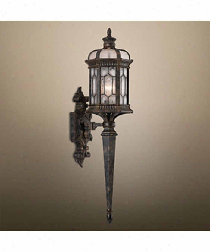 Fine Cunning Lamps 414681fl Devonshire Energy Brisk 1 Light Outdoor Wall Light In Antiqued Bronze With Textured Seedy Glass Glass