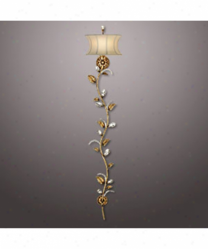 Fine Art Lamps 418050 A Midsummer Nights Dream 1 Light Wall Sconce In Moonlit Patina With Moon Dusted Crystal Pendants Crystal