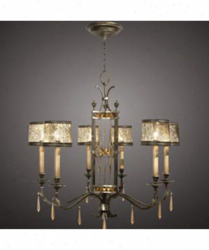 Fine Art Lamps 554140 Brazilian 6 Light Single Tier Chandelier In Rich Brown Patina With Topaz Crystal Drops Crystal