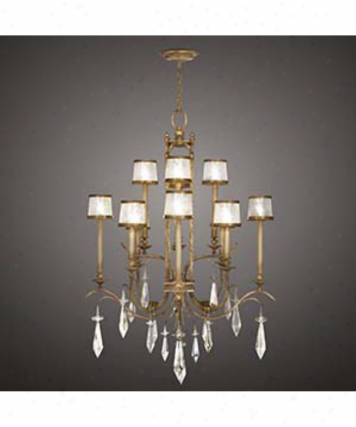 Fine Art Lamps 567840 Monte Carlo 12 Light Big Foyer Chandelier In Gold Leaf With Hand Blown Swirled Crystal Shades Glassbrilliant Crystal Drops Crystal