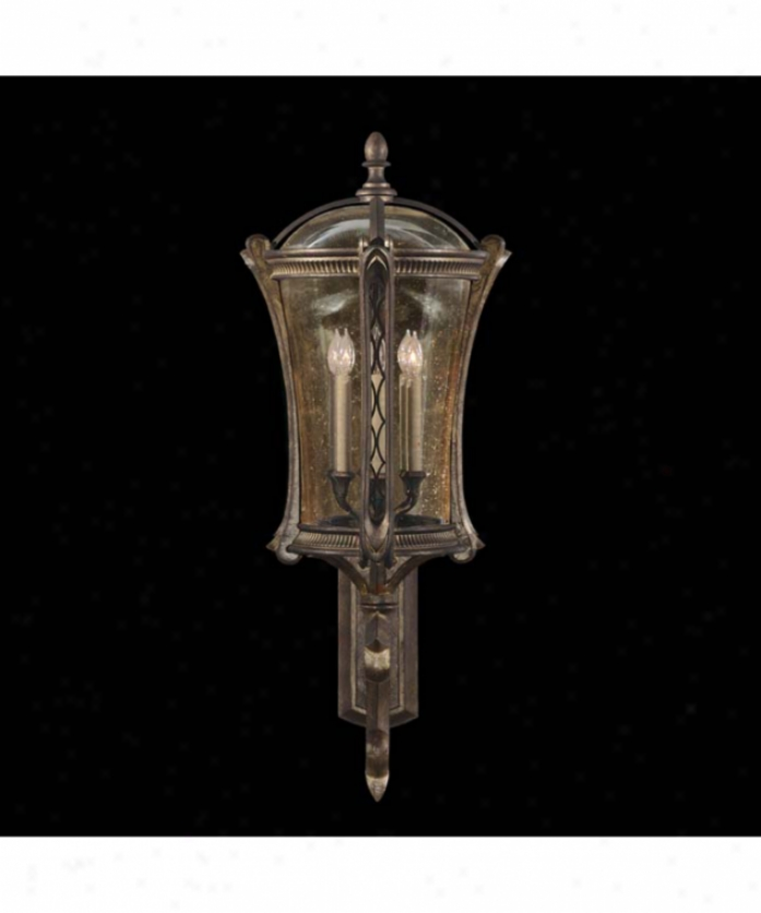 Fine Art Lamps 574681 Gramercy Park 6 Light Outdoor Wall Light In Antique Gold With Seddy Ambwr Tinted Glass