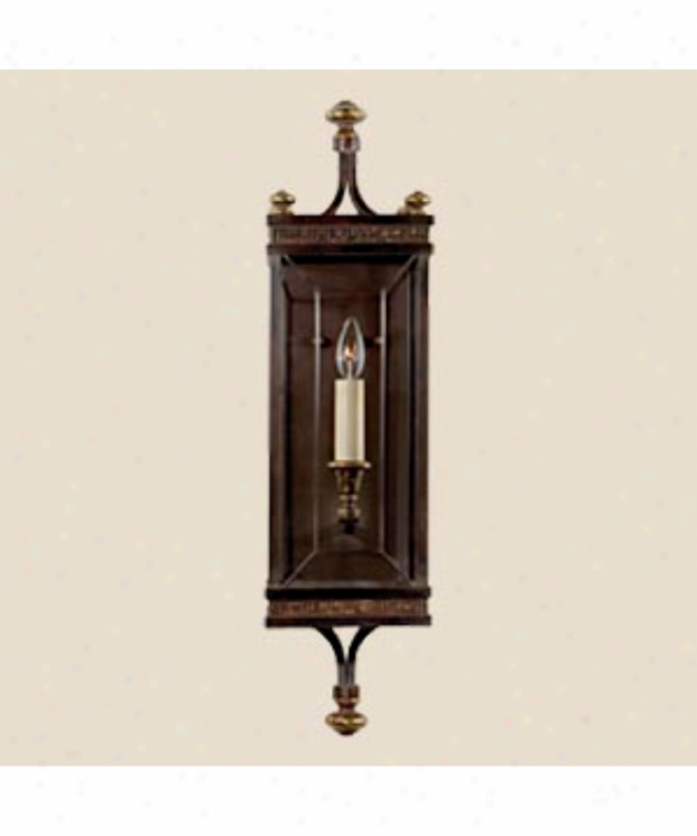 Fine Art Lamps 609850 Eaton Place 1 Light Wall Sconce In Dark Brown Patina With Beveled Optic Glass Panels Glass