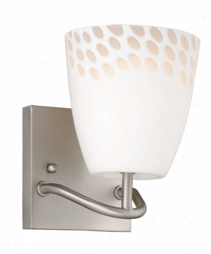 Forecast F434536 Daybreak 1 Light Wall Sconce In Satin Nickel In the opinion of Etched White Opal With Hand Cut Highlights Glass