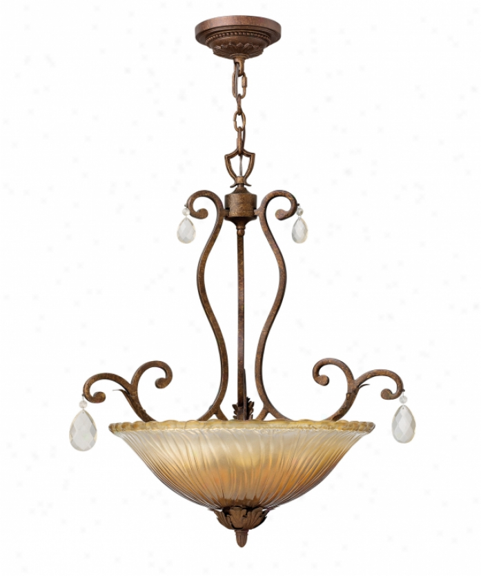 Fredrick Ramond Fr49159abr Bella Donna 3 Light Ceiling Pendant In Antique Bronze With Cahmpagne Glasschampagne Crystal Crystal