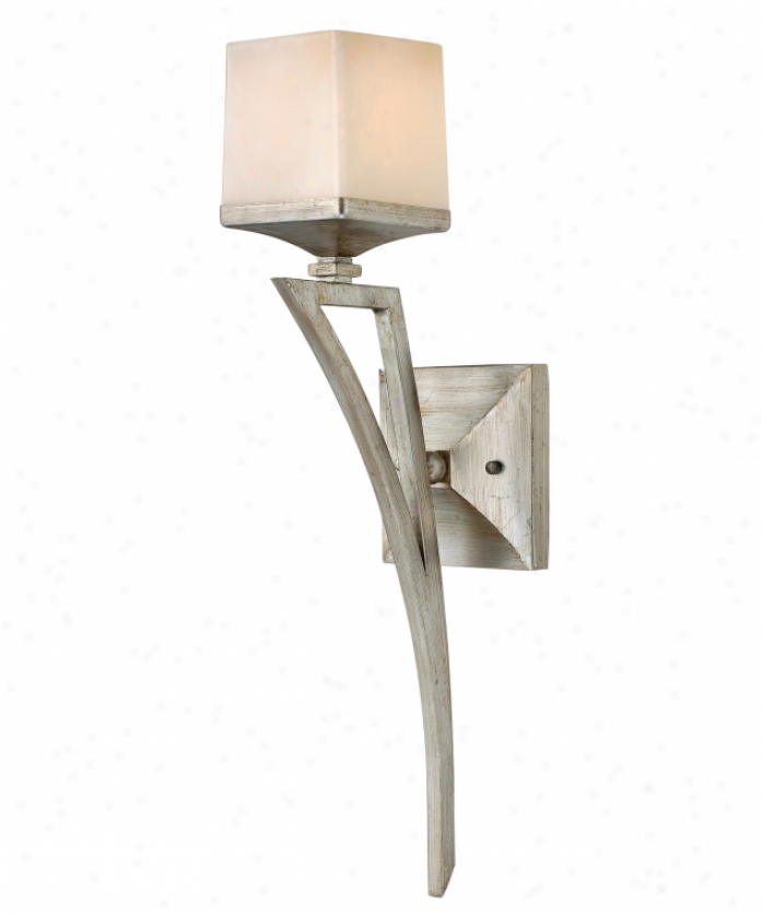 Fredrick Ramond Fr49190slf-San Simeon 1 Light Wall Sconce In Silvdr Leaf With Painted Soft Faun-colored Glass