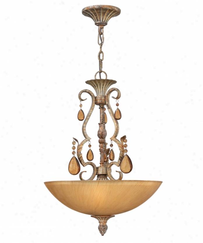 Fredrick Ramond Fr49395bme Monet 3 Light Ceiling Pendant In Brushed Merlot With Champagne Glassdark Champwgne Crystal Crystal