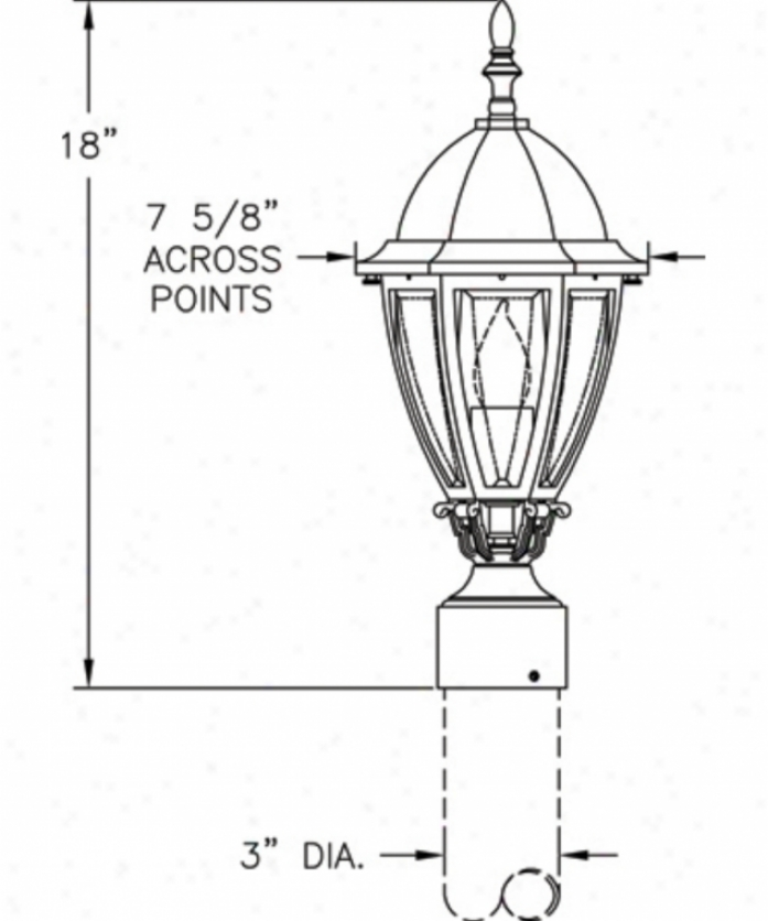 Hanover Lantern B12230acpjd Sturbridge Small 1 Light Outdoor Ppst Lamp In Antique Copper With Clear Bent Beveled Glass