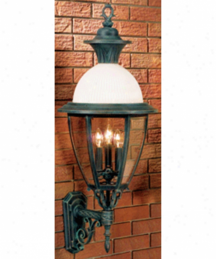Hanover Lantern B15610alm Meron Large 4 Light Outdoor Wall Light In Almond With Clear Bent Beveled Glasss Glass