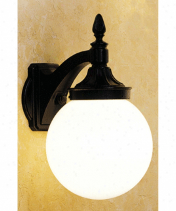 Hanover Lantern B16213-abs Omni Mean 1 Light Outdoor Wall Light In Antique Brass With Opal Acrylic Globe Glass