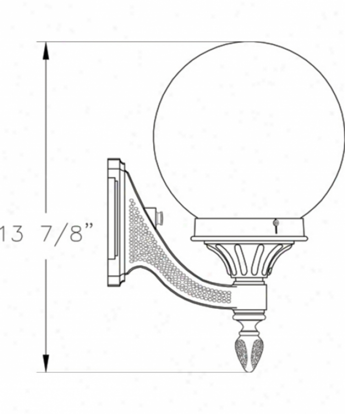 Hanover Lantern B16214-alm Omni Small 1 Ligbt Outdoor Wall Light In Almond With Opal Acrylic Globe Glass