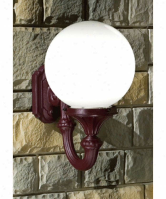 Hanover Lantern B164fsm-asb Omni Large 1 Light Outdoor Wall Light In Antique Brass With Opal Acrylic Gloobe Glass