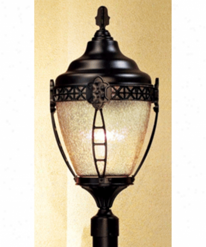 Hanover Lantern B17530dbz Grosse Pointe Mediu 1L ight Outdoor Post Lamp In Dark Bronze With Clear Textured Polycarbonated Globe Glass
