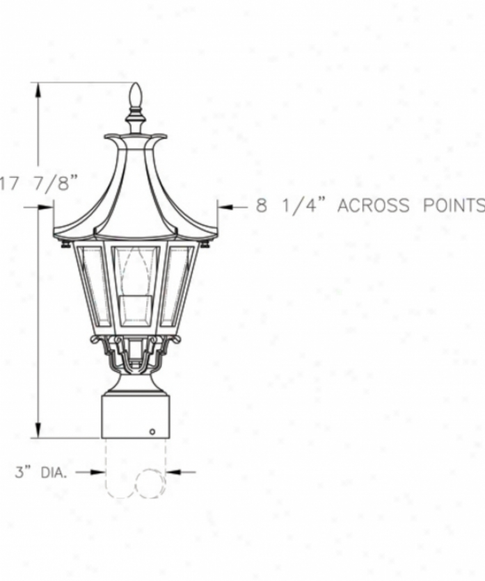Hanover Lantern B19230dbz Westminster Le Small 1 Light Outdoor Post Lamp In Dark Bronze With Clear Beveled Glass Glass